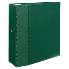 "Avery Heavy-Duty Binder with One Touch EZD Rings, 11 x 8 1/2, 5"" Capacity, Green"