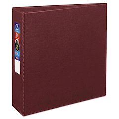 """Avery Heavy-Duty Binder with One Touch EZD Rings, 11 x 8 1/2, 3"""" Capacity, Maroon"""