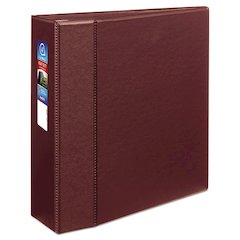 "Avery Heavy-Duty Binder with One Touch EZD Rings, 11 x 8 1/2, 4"" Capacity, Maroon"