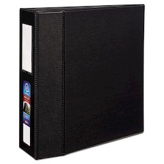 "Avery Heavy-Duty Binder with One Touch EZD Rings, 11 x 8 1/2, 4"" Capacity, Black"