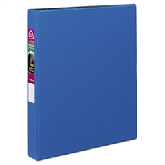 "Durable Binder with Slant Rings, 11 x 8 1/2, 1"", Blue"