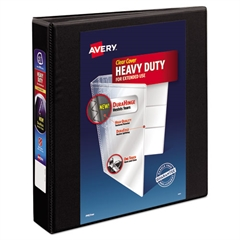 "Avery Heavy-Duty View Binder w/Locking 1-Touch EZD Rings, 1 1/2"" Cap, Black"