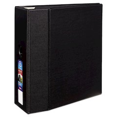 "Avery Heavy-Duty Binder with One Touch EZD Rings, 11 x 8 1/2, 5"" Capacity, Black"