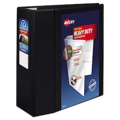 "Avery Heavy-Duty View Binder w/Locking 1-Touch EZD Rings, 5"" Cap, Black"