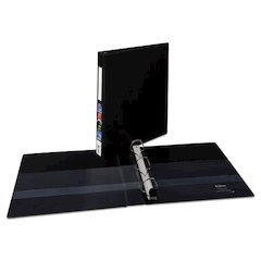 """Heavy-Duty Binder with One Touch EZD Rings, 11 x 8 1/2, 1"""" Capacity, Black"""