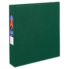 "Heavy-Duty Binder with One Touch EZD Rings, 11 x 8 1/2, 1 1/2"" Capacity, Green"