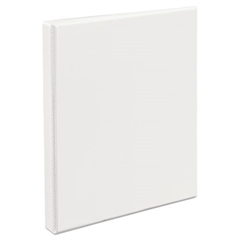 "Heavy-Duty Non Stick View Binder w/Slant Rings, 1/2"" Cap, White"