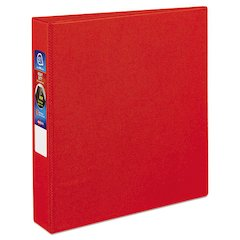 "Avery Heavy-Duty Binder with One Touch EZD Rings, 11 x 8 1/2, 1 1/2"" Capacity, Red"