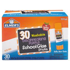 Elmer's Washable School Glue Sticks, Purple, 30/Box