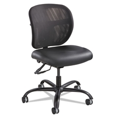 Safco Vue Intensive Use Mesh Task Chair, Vinyl Seat, Black