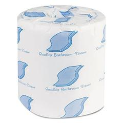 Bathroom Tissues, 2-Ply, White, 500 Sheets/Roll, 96 Rolls/Carton