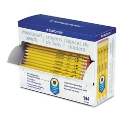 Staedtler Woodcase Pencil, Graphite Lead, Yellow Barrel, 144/Pack