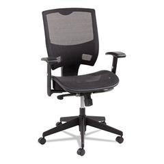 Alera Alera Epoch Series All Mesh Multifunction Mid-Back Chair, Black