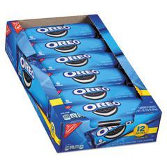 Oreo Cookies Single Serve Packs, Chocolate, 2.4oz Pack, 6 Cookies/Pack, 12Pk/Bx