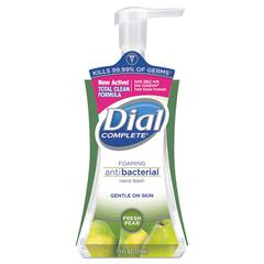 Dial Antibacterial Foaming Hand Wash, Fresh Pear, 7.5oz Pump Bottle, 8/Carton