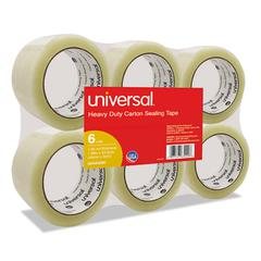 "General-Purpose Box Sealing Tape, 48mm x 54.8m, 3"" Core, Clear, 6/Pack"