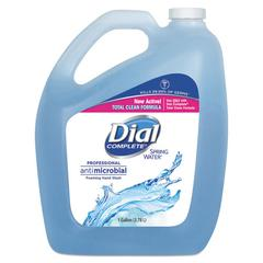 Antimicrobial Foaming Hand Wash, Spring Water, 1 gal Bottle, 4/Carton
