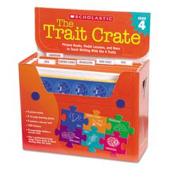 Trait Crate, Grade 4, Seven Books, Posters, Folders, Transparencies, Stickers