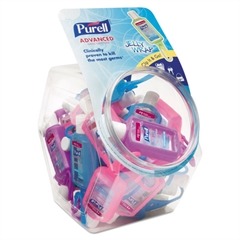 PURELL Advanced Instant Hand Sanitizer Gel, Jelly Wrap Bottle,1oz, 25/Bowl,1 Bowl/CT