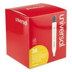 Dry Erase Marker, Chisel Tip, Black, 36/Pack