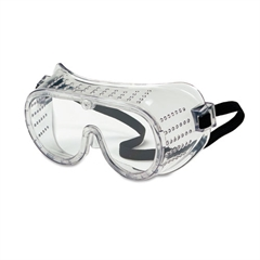 Crews Safety Goggles, Over Glasses, Clear Lens