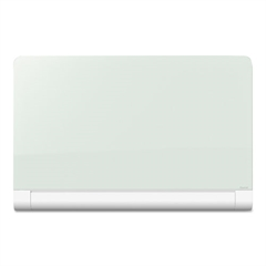 Horizon Magnetic Glass Marker Board with Hidden Tray, 85 x 48, White
