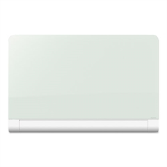 Horizon Magnetic Glass Marker Board with Hidden Tray, 74 x 42, White