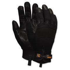 Multi-Task Synthetic Palm Gloves, Medium, Black, Pair