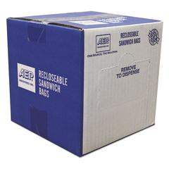 Recloseable Zipper Seal Sandwich Bags, 1.15mil, 6.5 x 5.875, Clear, 500/Box