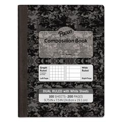 """Composition Book, 7 1/2"""" x 9 3/4"""", Subject, 100 Sheets, Black"""