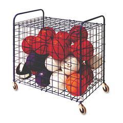 Champion Sports Lockable Ball Storage Cart, 24-Ball Capacity, 37w x 22d x 20h, Black