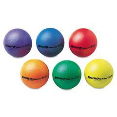 "Champion Sports Rhino Skin Ball Sets, 6 1/2"", Blue, Green, Orange, Purple, Red, Yellow, 6/Set"