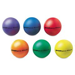 "Champion Sports Rhino Skin Ball Sets, 7"", Blue, Green, Orange, Purple, Red, Yellow, 6/Set"