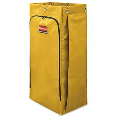Vinyl Cleaning Cart Bag, 34 gal, Yellow, 17 1/2w x 10 1/2d x 33h