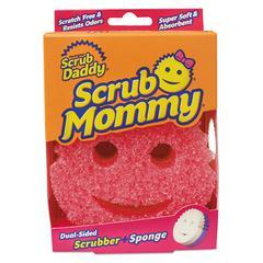 Scrub Mommy Dual Sided Sponge, Yellow, 4 x 6 x 1 1/2