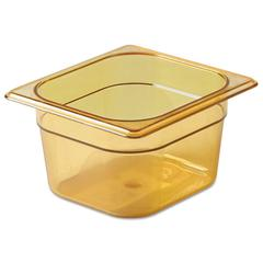 Hot Food Pan, 1 2/3qt, 6 3/8w x 6 7/8d x 4h, Amber