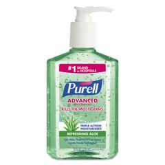 Advanced Instant Hand Sanitizer Gel, Fresh Scent, 8 oz Bottle, 12/Carton