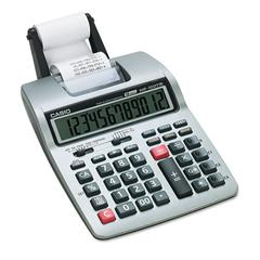 Casio HR-100TM Two-Color Portable Printing Calculator, Black/Red Print, 2 Lines/Sec