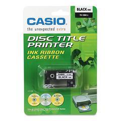 Casio TR18BK Thermal Ink Ribbon Cartridge, Black