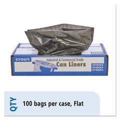100% Recycled Plastic Garbage Bags, 33gal, 1.5mil, 33 x 40, Brown/Black, 100/CT