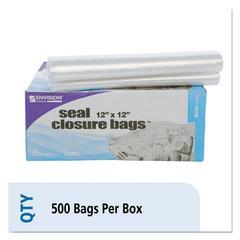 Zip-Seal Closure Bags, Clear, 12 x 12, 500/Carton