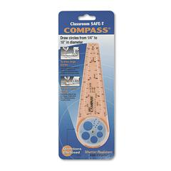 "Compass, 10"" Maximum Diameter, Plastic, Orange"