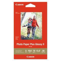 Photo Paper Plus Glossy II, 4 x 6, Glossy White, 50/PK