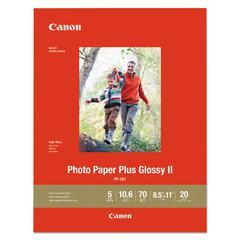 Photo Paper Plus Glossy II, 8 1/2 x 11, Glossy White, 20/PK