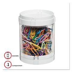 """Stacking Storage Oragnizer, 3"""" diameter x 3.89"""", White"""