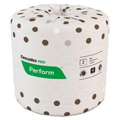 Cascades Moka Standard Bath Tissue 2-Ply, 4 5/16x3.825, Beige, 400/Rl, 80 Rl/Ctn