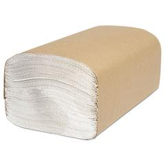 North River Folded Towels, Single-Fold, White, 9 1/8 x 10 1/4, 250/Pack,4000/Ctn