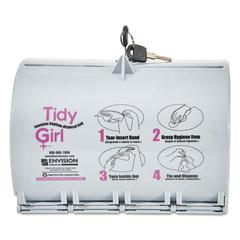 Plastic Feminine Hygiene Disposal Bag Dispenser, Gray