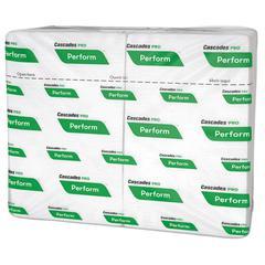 Perform Interfold Napkins, 1-Ply, 6 1/2 x 4 1/4, White, 376/PK, 6016/Carton
