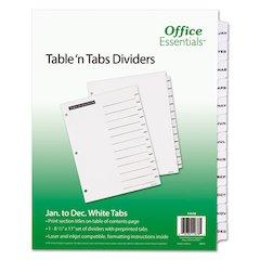 Table 'n Tabs Dividers, 12-Tab, Letter